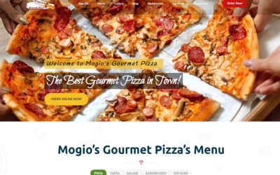 Mogio's Gourmet Pizza Announces Its New Website